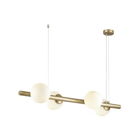Подвесной светильник Odeon Light Alta 4098/4, 4xE14x10W, золото, белый, металл, стекло