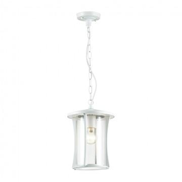 Подвесной светильник Odeon Light 4173/1, IP33, белый, прозрачный, металл, стекло
