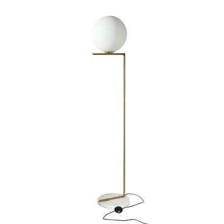 Торшер Loft It Icl 2578-F, 1xE27x40W, бронза, белый, металл, стекло