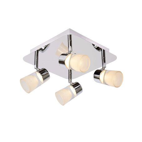 Потолочная светодиодная люстра с регулировкой направления света Lucide Xanto-LED 26993/20/11, IP21, LED 20W 3000K 315lm CRI80, хром, белый, металл, стекло