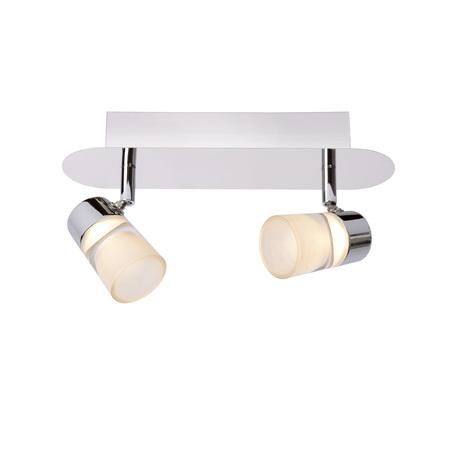 Потолочный светодиодный светильник с регулировкой направления света Lucide Xanto-LED 26993/10/11, IP21, LED 10W 3000K 315lm CRI80, хром, белый, металл, стекло