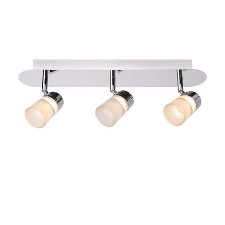 Потолочный светодиодный светильник с регулировкой направления света Lucide Xanto-LED 26993/15/11, IP21, LED 15W 3000K 315lm CRI80, хром, белый, металл, стекло