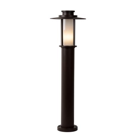 Уличный фонарь Lucide Goess 27842/80/43, IP54, 1xE27x23W, коричневый, металл, металл с пластиком