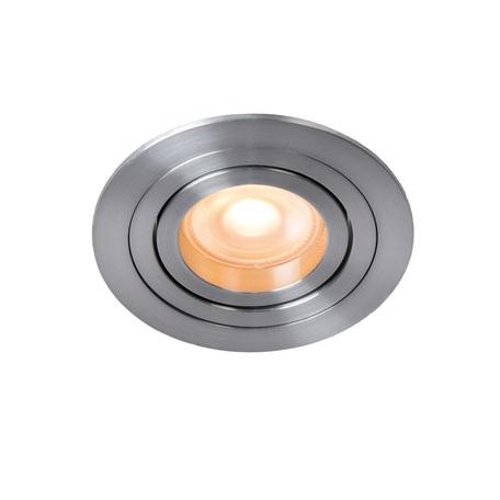 Встраиваемый светильник Lucide Tube 22954/01/12, 1xGU10x42W, матовый хром, металл