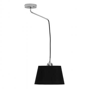 Подвесной светильник MW-Light Лацио 103011101, 1xE27x40W, хром, черный, металл, текстиль