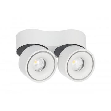 Потолочный светодиодный светильник с регулировкой направления света Donolux Marta DL18617/02WW-R White DIM, LED 18W 3000K 1480lm, белый