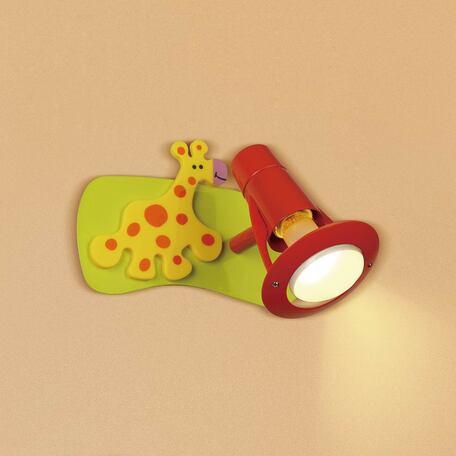 Настенный светильник с регулировкой направления света Citilux Зоопарк CL602511, 1xE14x60W, разноцветный, металл