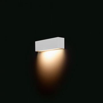 Настенный светильник Nowodvorski Straight 6345, 1xE14x40W, белый, металл со стеклом, стекло
