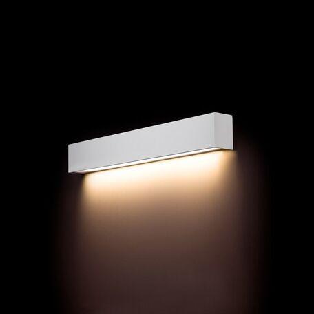 Настенный светильник Nowodvorski Straight 9610, 1xG13T8x10W, белый, металл со стеклом, стекло