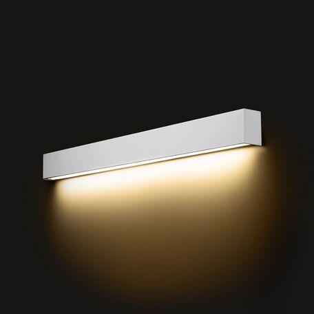 Настенный светильник Nowodvorski Straight 9611, 1xG13T8x14W, белый, металл со стеклом, стекло