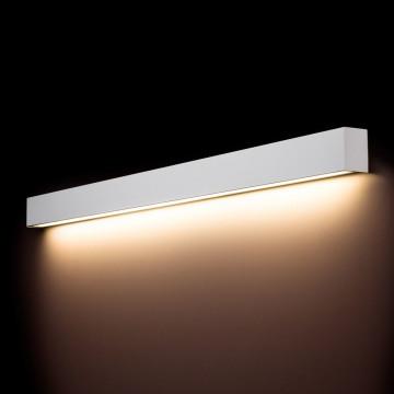 Настенный светильник Nowodvorski Straight 9612, 1xG13T8x18W, белый, металл со стеклом, стекло