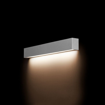 Настенный светильник Nowodvorski Straight 9613, 1xG13T8x10W, серебро, металл со стеклом, стекло