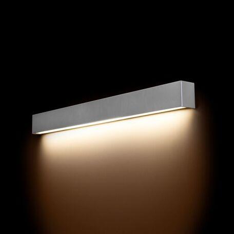 Настенный светильник Nowodvorski Straight 9614, 1xG13T8x14W, серебро, металл со стеклом, стекло
