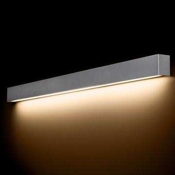 Настенный светильник Nowodvorski Straight 9615, 1xG13T8x18W, серебро, металл со стеклом, стекло