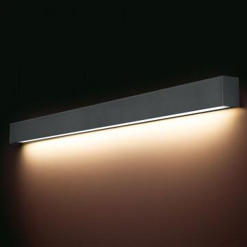 Настенный светильник Nowodvorski Straight 9616, 1xG13T8x18W, серый, металл со стеклом, стекло