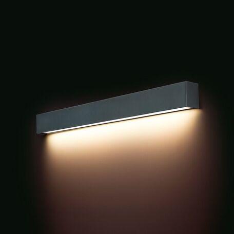 Настенный светильник Nowodvorski Straight 9617, 1xG13T8x14W, серый, металл, стекло