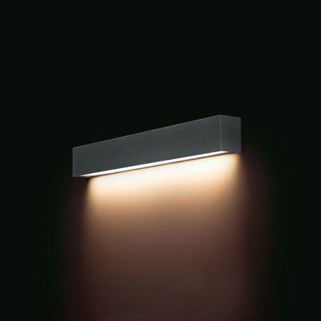 Настенный светильник Nowodvorski Straight 9618, 1xG13T8x10W, серый, металл со стеклом, стекло