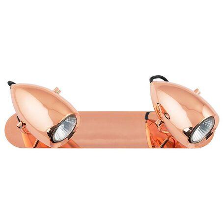 Настенный светильник с регулировкой направления света Nowodvorski Salina Copper 6264, 2xGU10x50W, медь, металл - миниатюра 1