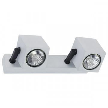 Настенный светильник с регулировкой направления света Nowodvorski Cuboid 6518, 2xGU10x35W, серебро, черный, металл