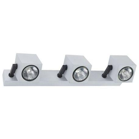 Настенный светильник с регулировкой направления света Nowodvorski Cuboid 6520, 3xGU10x35W, серебро, черный, металл