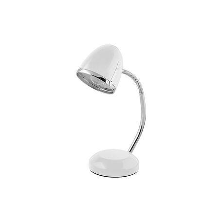 Настольная лампа Nowodvorski Pocatello 5794, 1xE27x18W, белый с хромом, хром с белым, металл