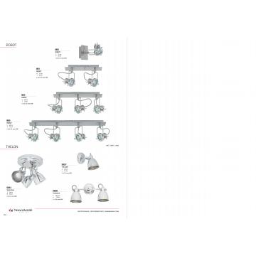 Потолочная люстра с регулировкой направления света Nowodvorski Thelon 5661, 3xE14x40W, хром, металл - миниатюра 3
