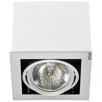 Потолочный светильник Nowodvorski Box 5305, 1xG53AR111x50W, белый, дерево, металл - миниатюра 1