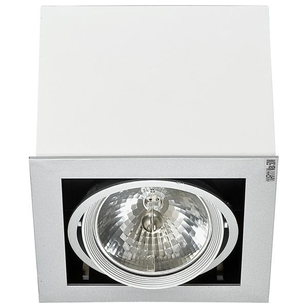 Потолочный светильник Nowodvorski Box 5305, 1xG53AR111x50W, белый, дерево, металл - фото 1