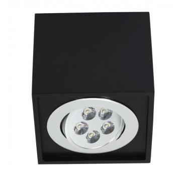 Потолочный светодиодный светильник Nowodvorski Box LED 6421, LED 5W, черный, дерево, металл