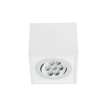 Потолочный светодиодный светильник Nowodvorski Box LED 6422, LED 7W, белый, дерево, металл