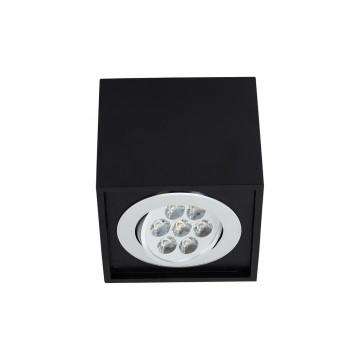 Потолочный светодиодный светильник Nowodvorski Box LED 6427, LED 7W, черный, дерево, металл