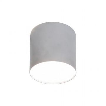Потолочный светильник Nowodvorski Point Plexi 6527, 1xGU10x35W, белый, серебро, металл, пластик