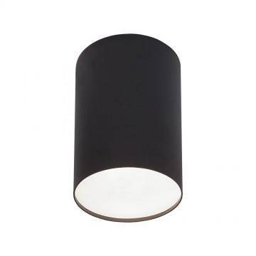 Потолочный светильник Nowodvorski Point Plexi 6530, 1xE27x20W, белый, черный, металл, пластик