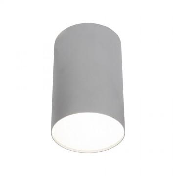 Потолочный светильник Nowodvorski Point Plexi 6531, 1xE27x20W, белый, серебро, металл, пластик