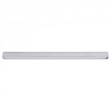 Потолочный светильник Nowodvorski Straight 9625, 1xG13T8x18W, серебро, металл со стеклом, стекло