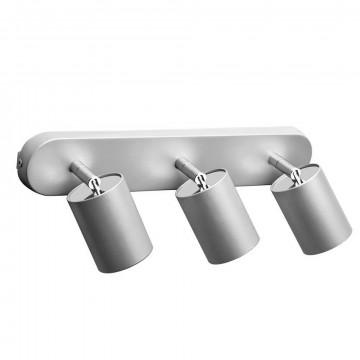 Потолочный светильник с регулировкой направления света Nowodvorski Eye Spot 6141, 3xGU10x35W, серебро, металл