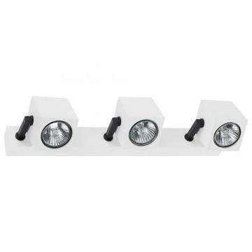 Потолочный светильник с регулировкой направления света Nowodvorski Cuboid 6590, 3xGU10x35W, белый, черный, металл