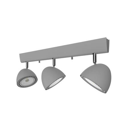 Потолочный светильник с регулировкой направления света Nowodvorski Vespa 9487, 3xGU10x75W, серебро, металл