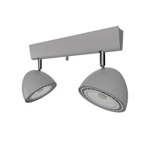 Потолочный светильник с регулировкой направления света Nowodvorski Vespa 9488, 2xGU10x75W, серебро, металл
