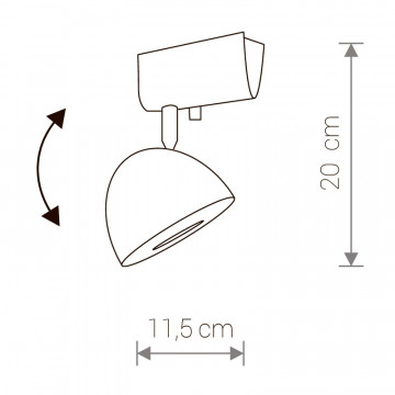 Схема с размерами Nowodvorski 9594