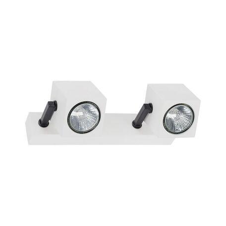 Потолочный светильник с регулировкой направления света Nowodvorski Cuboid 6523, 2xGU10x35W, белый, черный, металл