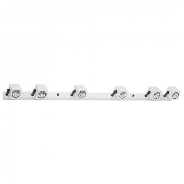 Потолочный светильник с регулировкой направления света Nowodvorski Cuboid 6524, 6xGU10x35W, белый, черный, металл
