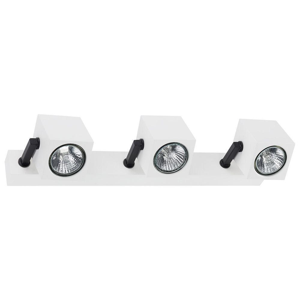 Потолочный светильник с регулировкой направления света Nowodvorski Cuboid 6590, 3xGU10x35W, белый, черный, металл - фото 1