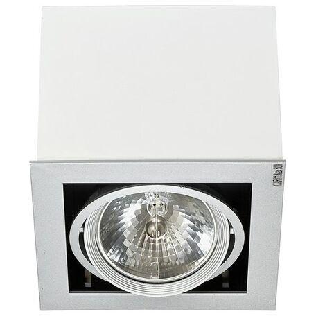 Потолочный светильник Nowodvorski Box 5305, 1xG53AR111x50W, белый, дерево, металл