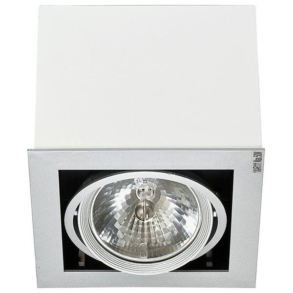 Потолочный светильник Nowodvorski Box 5305, 1xG53AR111x50W, белый, дерево с металлом, металл с деревом - фото 1