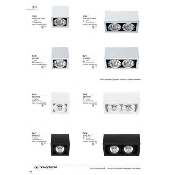 Потолочный светильник Nowodvorski Box 5305, 1xG53AR111x50W, белый, дерево с металлом, металл с деревом - миниатюра 2