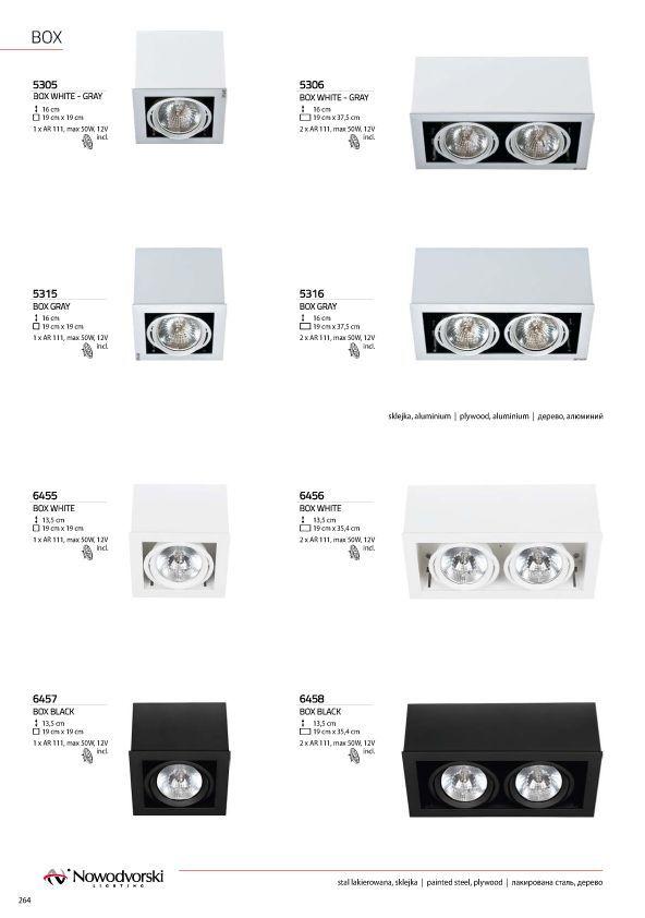 Потолочный светильник Nowodvorski Box 5305, 1xG53AR111x50W, белый, дерево с металлом, металл с деревом - фото 2