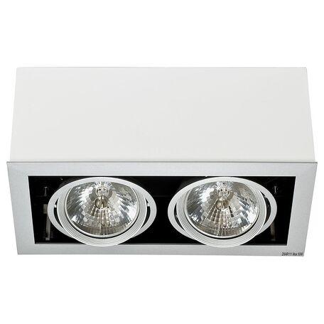 Потолочный светильник Nowodvorski Box 5306, 2xG53AR111x50W, белый, дерево, металл
