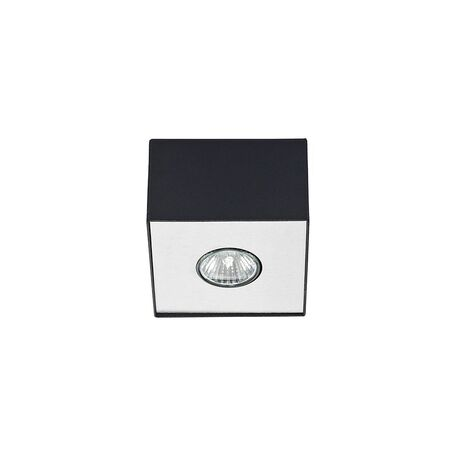 Потолочный светильник Nowodvorski Carson 5568, 1xGU10x50W, черный с серебром, металл