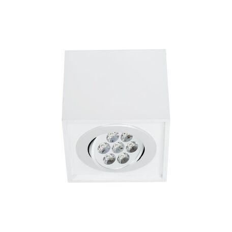 Потолочный светодиодный светильник Nowodvorski Box LED 6422, LED 7W, белый, дерево, металл - миниатюра 1